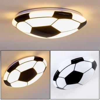 Sakka Deckenleuchte LED Schwarz, Weiß, 1-flammig