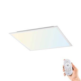 Leuchten Direkt FLAT Deckenpanel LED Weiß, 1-flammig, Fernbedienung