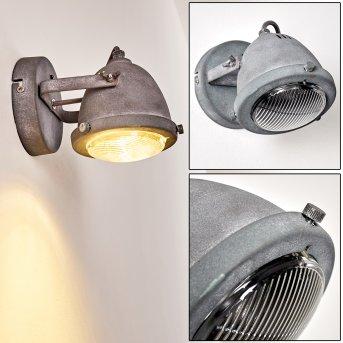 Glostrup Wandleuchte LED Grau, 1-flammig
