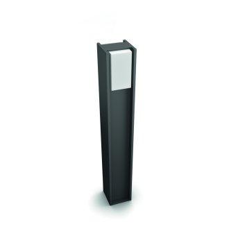 Philips Hue White Turaco Wegeleuchte LED Anthrazit, 1-flammig