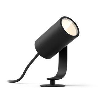Philips Hue Ambiance White & Color WACA Lily Spot, Erweiterungs-Set LED Schwarz, 1-flammig, Farbwechsler