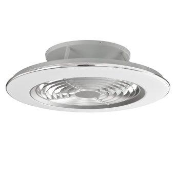 Mantra ALISIO Deckenventilator LED Chrom, Grau, 1-flammig, Fernbedienung