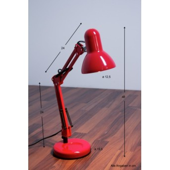 Globo Famous Schreibtischleuchte Rot, 1-flammig