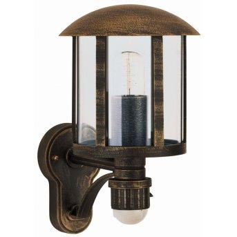 Albert Leuchten 836 Außenwandleuchte Messing, Braun, 1-flammig, Bewegungsmelder