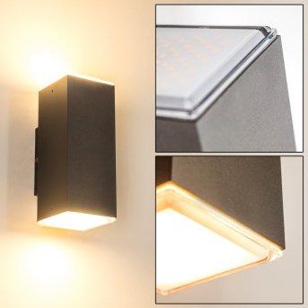 Außenwandleuchte Laxa LED Silber, 2-flammig