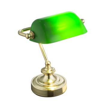 Globo ANTIQUE Bankerlampe Messing, 1-flammig