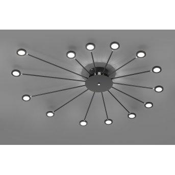 Trio Leuchten Peacock Deckenleuchte LED Schwarz, 15-flammig