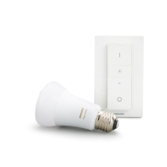 Philips Hue LED White E27 9,5 Watt 2700 Kelvin 806 Lumen inkl. Dimmschalter