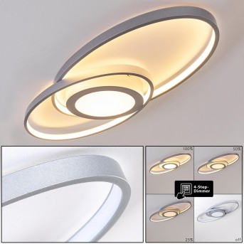 Chunky Deckenleuchte LED Silber, 1-flammig