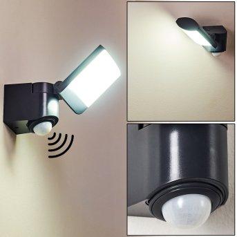 Larvik Außenwandleuchte LED Anthrazit, 1-flammig, Bewegungsmelder