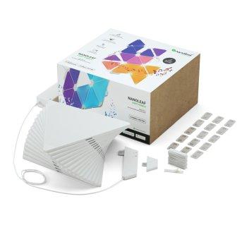 nanoleaf Rhythm Starter Kit Wandleuchte 15er-Pack LED Weiß, 1-flammig, Fernbedienung, Farbwechsler