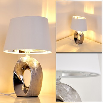 Rovio Tischleuchte Silber, 1-flammig