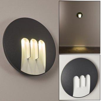 Silvso Außenwandleuchte LED Anthrazit, 3-flammig