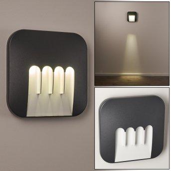 Silvso Außenwandleuchte LED Anthrazit, 4-flammig
