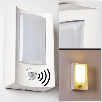 Nordkapp Außenwandleuchte LED Weiß, 1-flammig, Bewegungsmelder