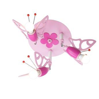 Elobra FALTER Deckenrondell Pink, 3-flammig