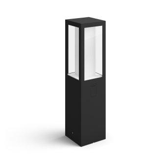 Philips Hue Ambiance White & Color Impress Sockelleuchte LED Schwarz, 1-flammig, Farbwechsler