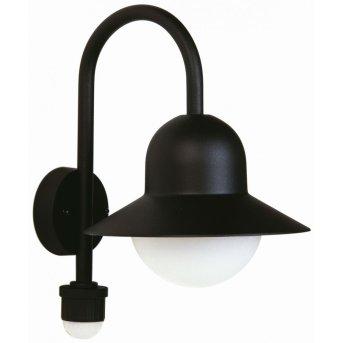 Albert Leuchten 661 Außenwandleuchte Schwarz, 1-flammig, Bewegungsmelder