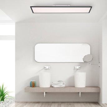Leuchten Direkt FLAT LED Panel Schwarz, 1-flammig, Fernbedienung
