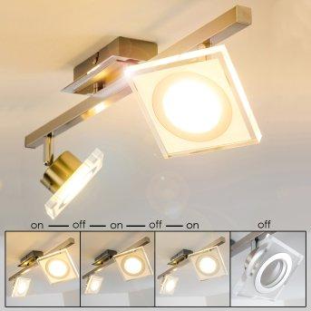 Deckenleuchte Kolari LED Nickel-Matt, Chrom, 2-flammig