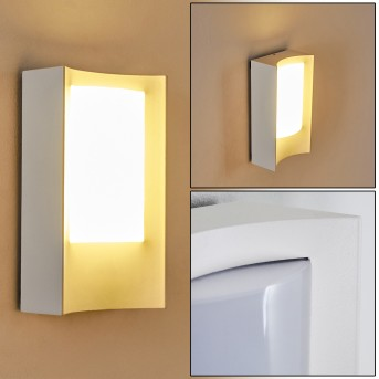 Lamoliere Außenwandleuchte LED Weiß, 1-flammig