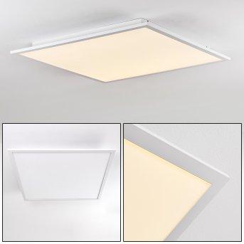 Salmi Deckenpanel LED Aluminium, Weiß, 1-flammig