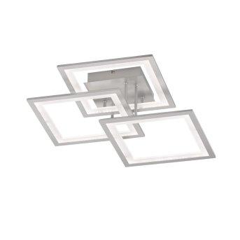 Wofi MODESTO Deckenleuchte LED Silber, 1-flammig