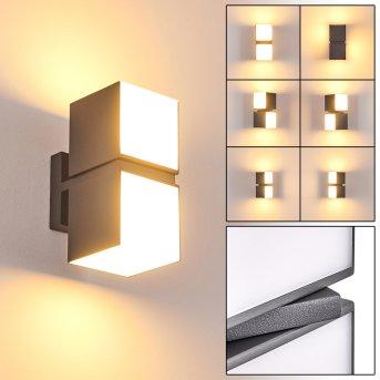 Swanek Außenwandleuchte LED Anthrazit, 2-flammig