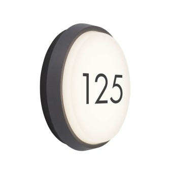 AEG Letan Round Außenwandeuchte LED Anthrazit, Weiß, 1-flammig