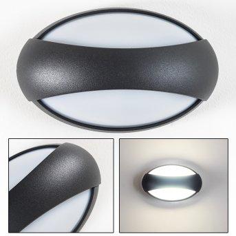 KIBY Aussenwandleuchte LED Anthrazit, 3-flammig