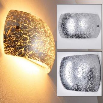 Pilar Wandleuchte Silber, 2-flammig