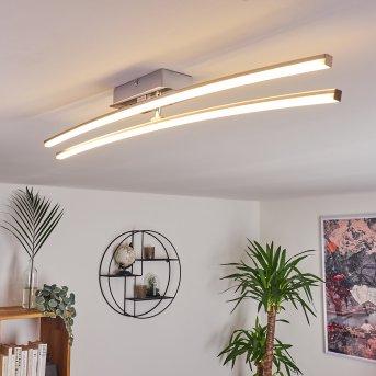 Powassan Deckenleuchte LED Chrom, 2-flammig
