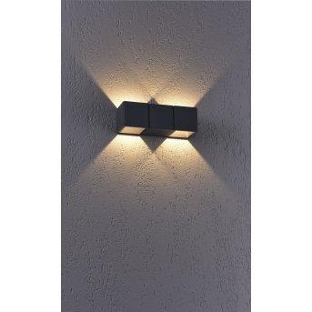 Paul Neuhaus MARCEL Außenwandleuchte LED Anthrazit, 2-flammig