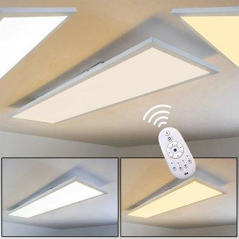 Lerum Deckenpanel LED Weiß, 1-flammig, Fernbedienung