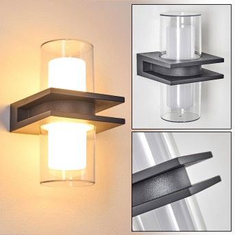 Kekenis Außenwandleuchte LED Anthrazit, 1-flammig