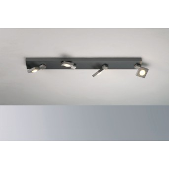 Bopp Flash Deckenleuchte LED Aluminium, 4-flammig