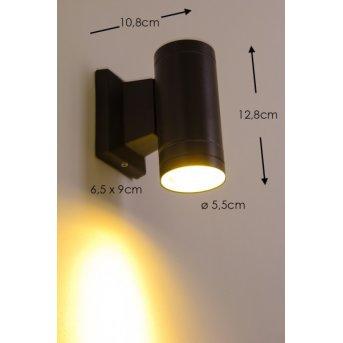 Globo LED Aussenwandleuchte Schwarz, 1-flammig
