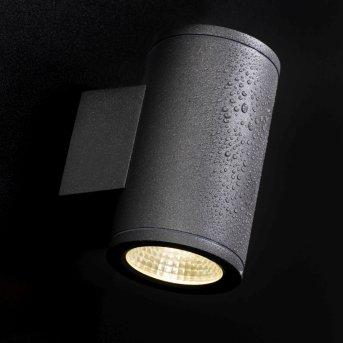AEG Argo Außenwandstrahler LED Anthrazit, 2-flammig