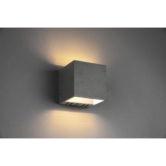 Trio Leuchten Figo Wandleuchte LED Schwarz, 1-flammig, Fernbedienung, Farbwechsler