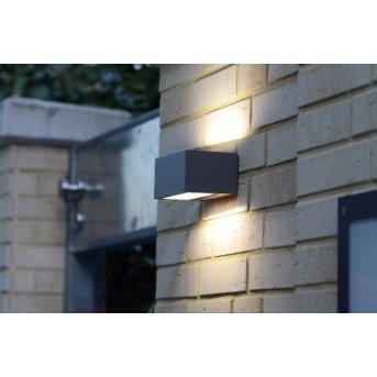 Lutec LED Aussenwandleuchte Anthrazit, 1-flammig