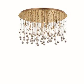 Ideal Lux MOONLIGHT  Deckenleuchte Kristalloptik, Champagner, 12-flammig