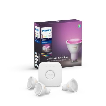 Philips Hue LED Ambiance White & Color GU10 3er Starter-Set