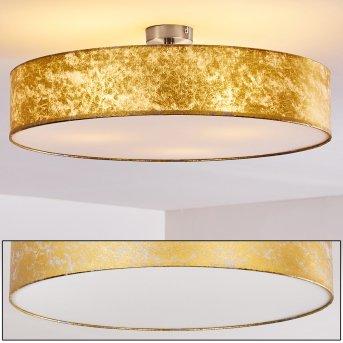 Deckenleuchte Foggia gold 60 cm Nickel-Matt, 3-flammig