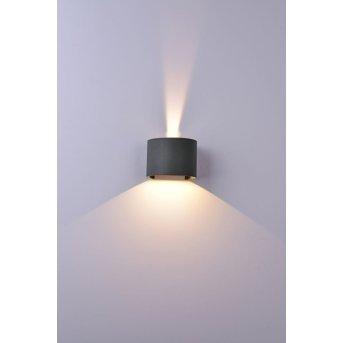 Mantra DAVOS Außenwandleuchte LED Grau, 1-flammig