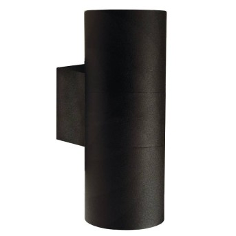 Nordlux TIN Außenwandleuchte Schwarz, 2-flammig