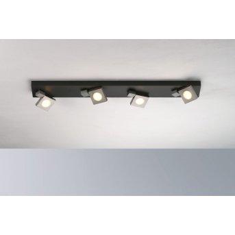 Bopp Flash Deckenleuchte LED Schwarz, Anthrazit, 4-flammig