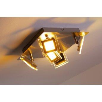 Wofi Cholet Deckenleuchte LED Nickel-Matt, 5-flammig