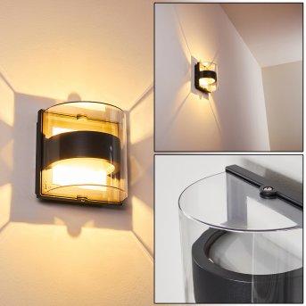 Sauerbek Außenwandleuchte LED Schwarz, 2-flammig