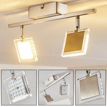 Piney Deckenleuchte LED Nickel-Matt, 2-flammig