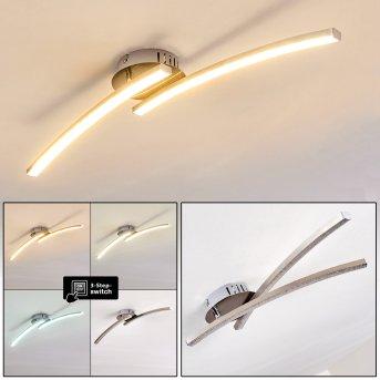 Tusula Deckenleuchte LED Nickel-Matt, 2-flammig